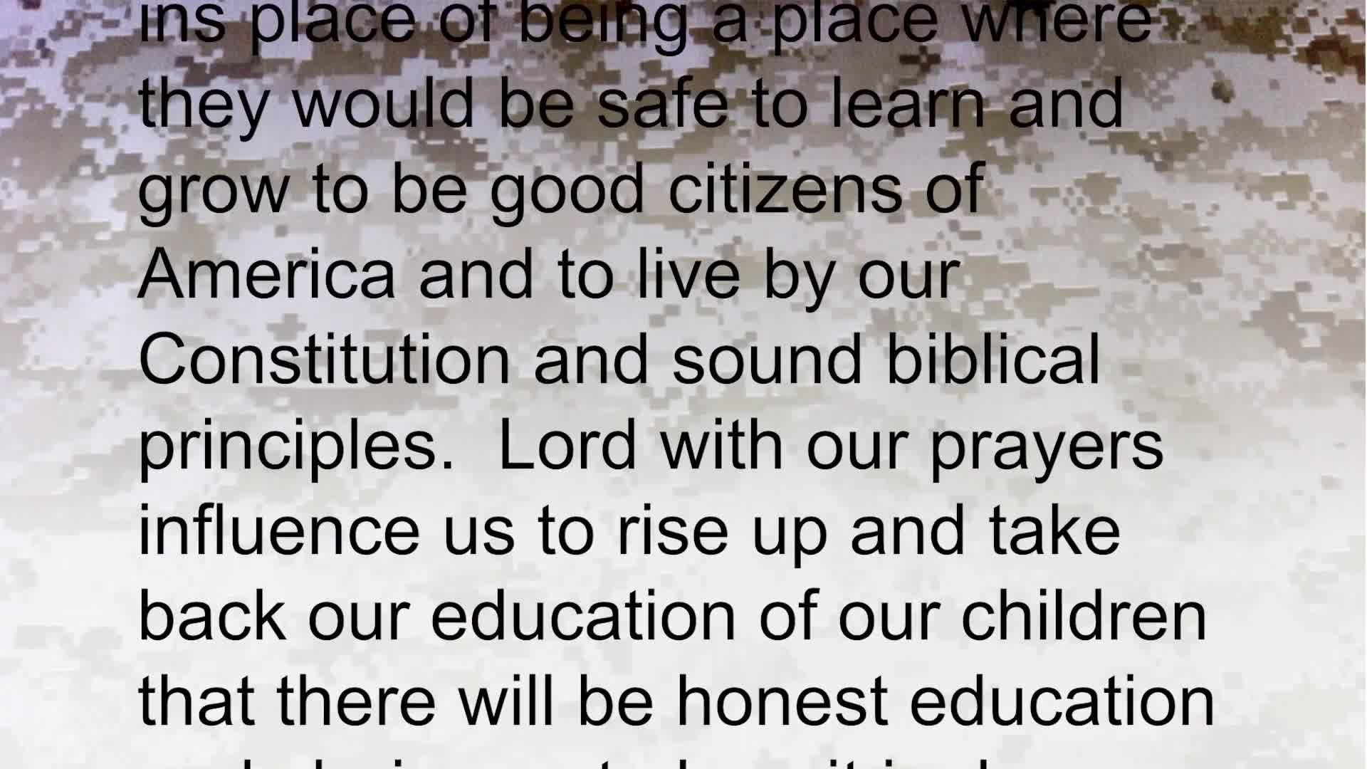 PRAYER FOCUS FIGHT FOR OUR CHILDREN TO TAUGHT OUR HERITAGE!