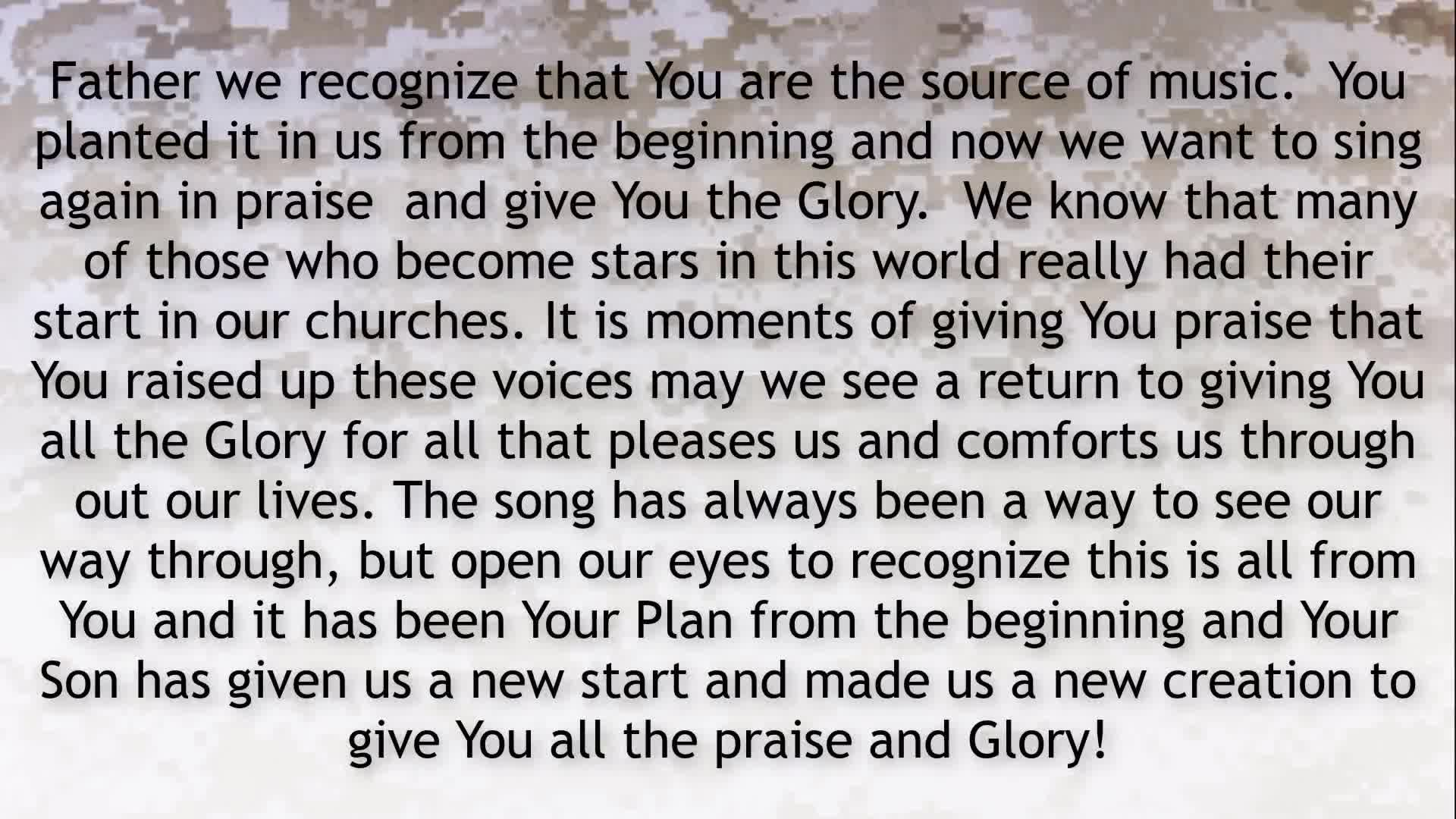 PRAYER FOCUS SINGING A SONG OF VICTORY FOR ALL THAT HAS BEEN STARTED UNDER PRESIDENT TRUMP!