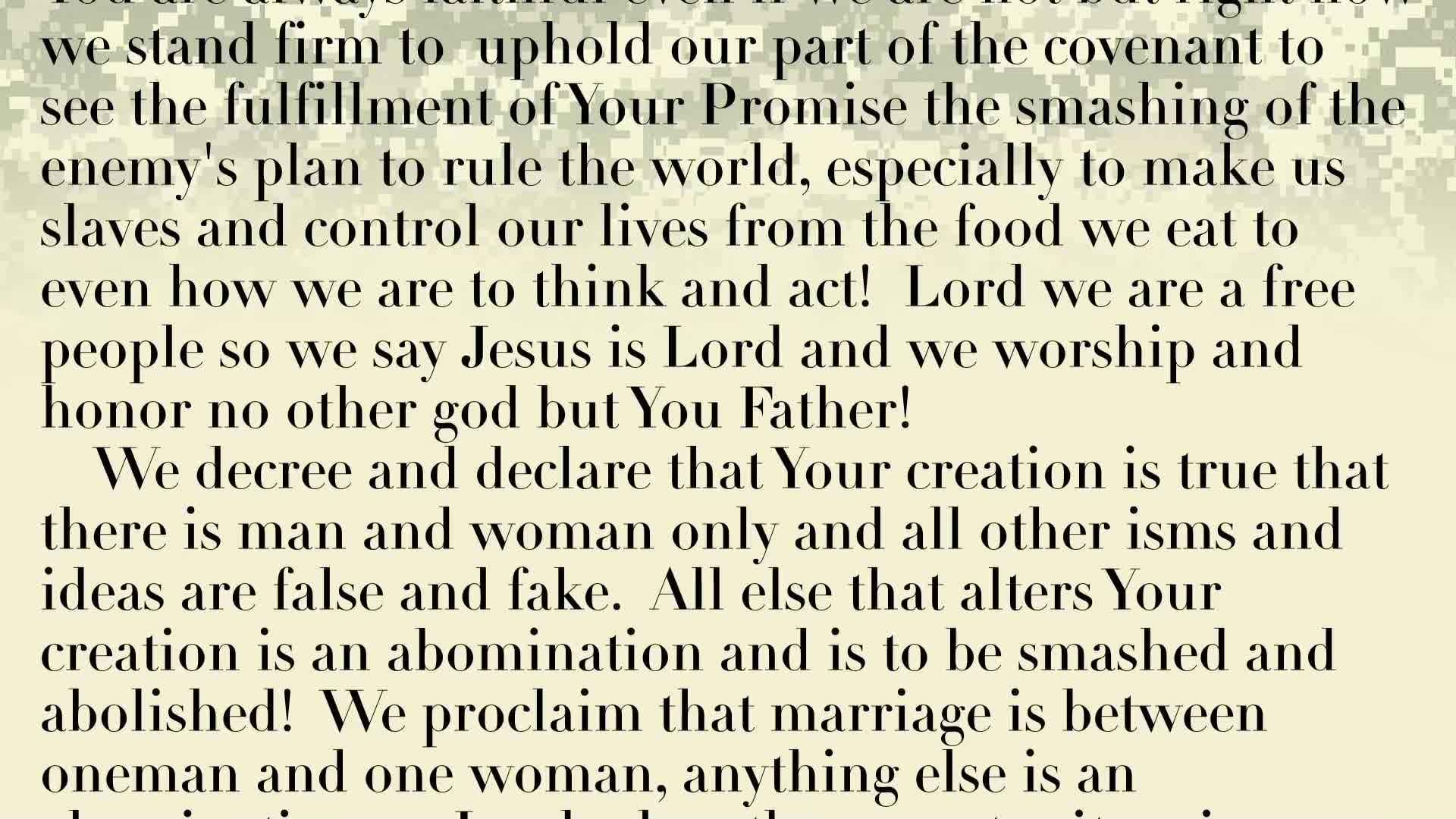 PRAYER FOCUS: GOD SEE US EQUAL AS MALE AND FEMALE, BUT DO WE LIVE AS HE SEES US?