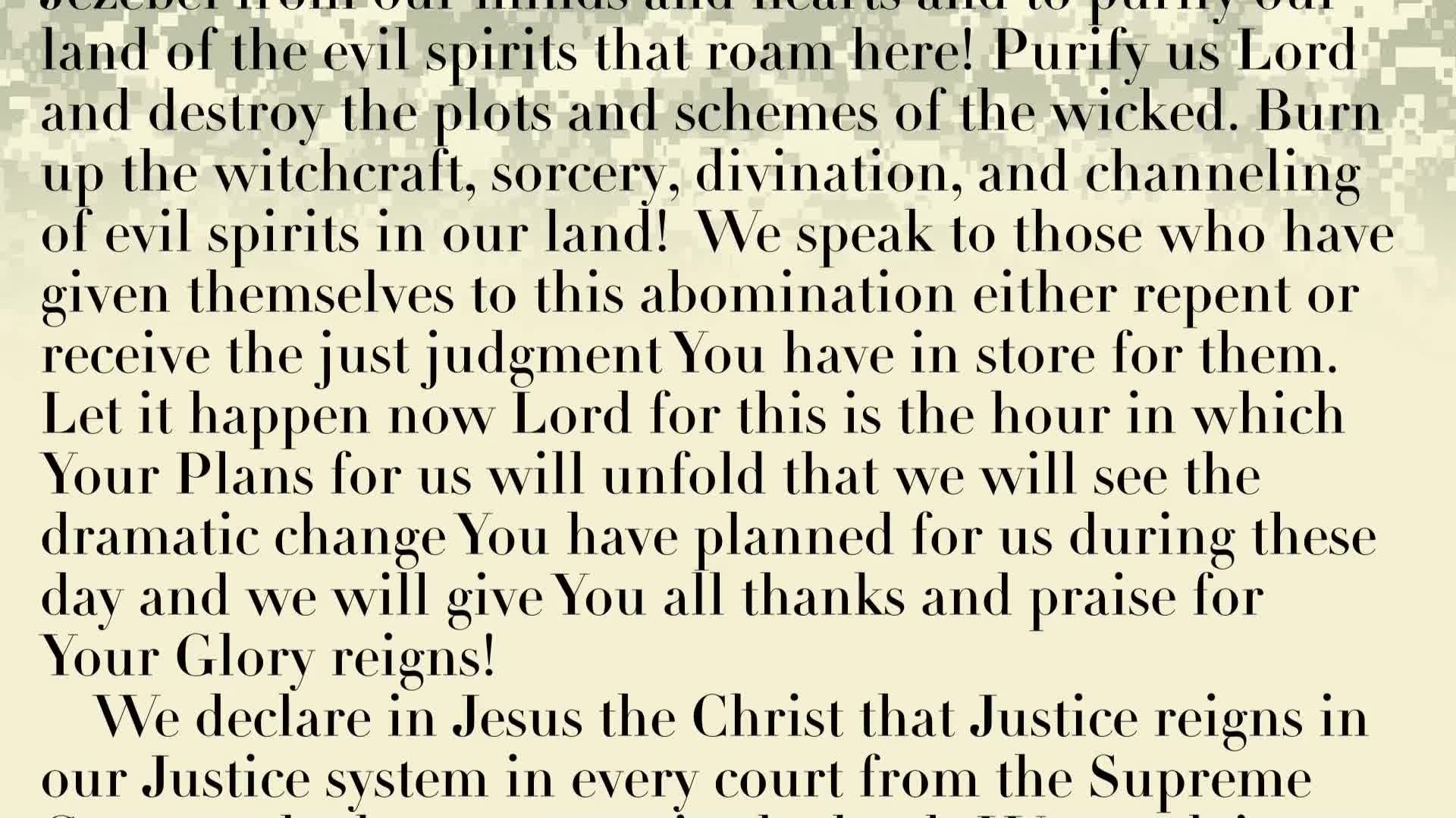 PRAYER FOCUS: JUSTICE! JUSTICE! WE CRY OUT FOR JUSTICE ON THE EARTH  AS IT IS IN HEAVEN AND SO TOO IN AMERICA!