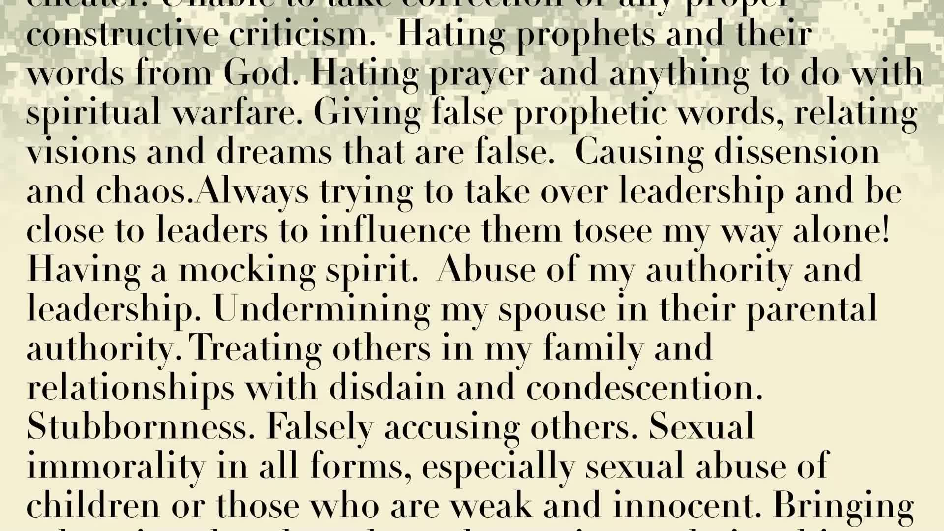 PRAYER FOCUS: RENUNCIATION PRAYER OF SPIRIT OF JEZEBEL IN OURSELFAND FOR OUR NATION!